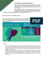 Pueblos y Nacionalidades Indígenas Del Ecuador