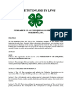 Constitution and By-Laws of 4-H Club of the Philippines