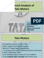 Financial Analysis of Tata Motors - FSA Presentation Final