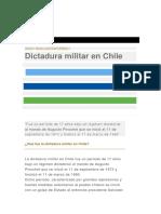 DICTADORA CHILENA