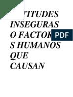ACTITUDES INSEGURAS O FACTORES HUMANOS QUE CAUSAN ACCIDENTES.docx