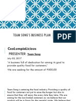 Team Song's Business Plan