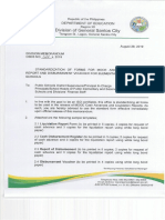 Standardization of Forms for Mooe and Sbfp Liquidation Report and Disbursement Voucher for Elementary and Secondary Schools