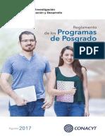Reglamento de Los Programas de Posgrados 2017