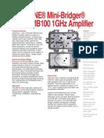 data amplificador hfc