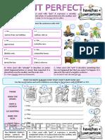 Present Perfect With Alreadyjustyet Grammar Drills Grammar Guides Information Gap Acti 90552