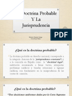 Doctrina Probable y Jurisprudencia