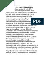 Historia Geologica de Colombia