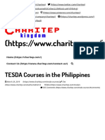 TESDA Courses offered in the Philippines 2019 (Complete List)