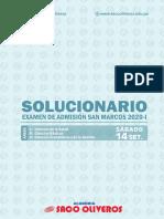 Solucionario San Marcos 2020-i - Sábado 14 de Set