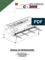 Cizalla Hidraulica c3006 Manual Nargesa