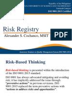 Risk Registry