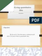 Analyzing Quantitative Data