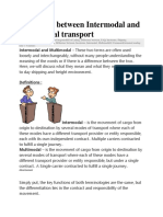Difference Between Intermodal and Multimodal Transport