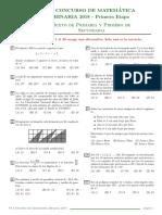 evaluacion 1ero Sec