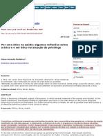 Por Uma Ética Na Saúde_ Algumas Reflexões Sobre a Ética e o Ser Ético Na Atuação Do Psicólogo