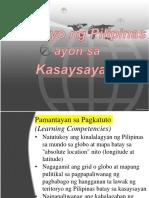 Teritoryo ng Pilipinas ayon sa Kasaysayan