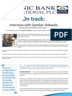 Oyinkan Adewale, Oceanic Bank Executive Director and CFO, Interview on Q3 2010 Results