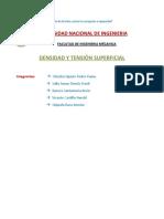 Densidad y Tension Superficial