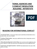 INTER STATE CONFLICT RESOLUTION