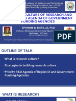 10.27-28 1. Building a Culture of Research and Priority R&D Agenda of Funding Agencies
