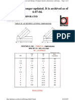 Lateral Fitting Dimensions