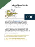 Mapas Mentales Creativos 10 Ejemplos De
