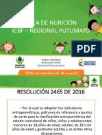 ARE DE NUTRICIO - REGIONAL PUTUMAYO ICBF