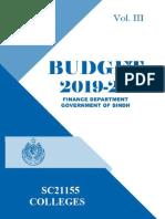 college budget Sindh