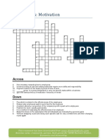 Crosswords Motivation for IGCSE students