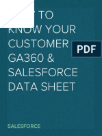 How to Know Your Customer - GA360 and Salesforce Integration Data Sheet