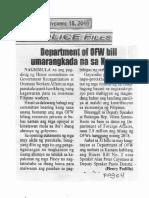 Police Files, Sept. 18, 2019, Department of OFW bill umarangkada na sa Kamara.pdf