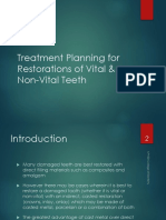 Treatment Planning for Restorations of Vital & Non-Vital Teeth