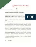 DEMANDAS  DE Nulidad de Cosa Juzgada Fraudulenta Y OTRAS