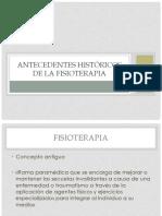 Antecedentes e Historia de la Fisioterapia