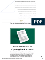 Board Resolution for Opening Bank Account - IndiaFilings - Document Center