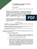 Memorandum of Agreement for Livelihood Loan Facility