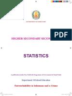 XII Std - Statistics English Medium