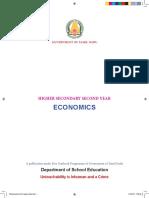 XII Std - Economics English Medium