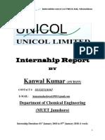 Internship Report UNICOL