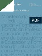 España. Datos y cifras. Curso escolar 2019/2020