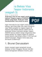 9 Negara Bebas Visa Untuk Paspor Indonesia