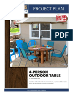 4 Person Outdoor Table