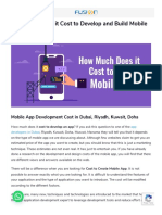 How Much Does It Cost to Develop and Build Mobile App