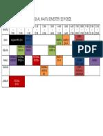 Jadual Waktu Semester II Sesi 2017