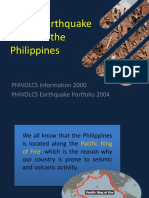Major Earthquake Zones in the Philippines