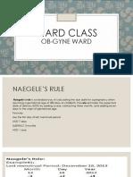 Araullo University OB WARD CLASS
