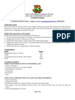 course outline of law of property in land 1