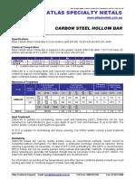 Carbon Hollow Bar ST 52