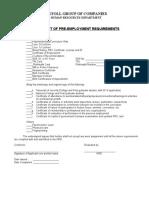 Pre documents